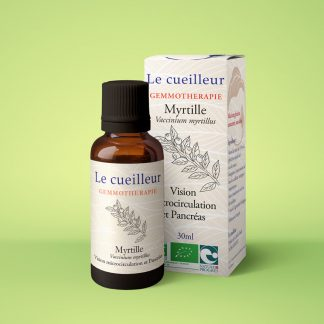 Le cueilleur - gemmothérapie macérat glycériné de jeunes pousses de myrtille